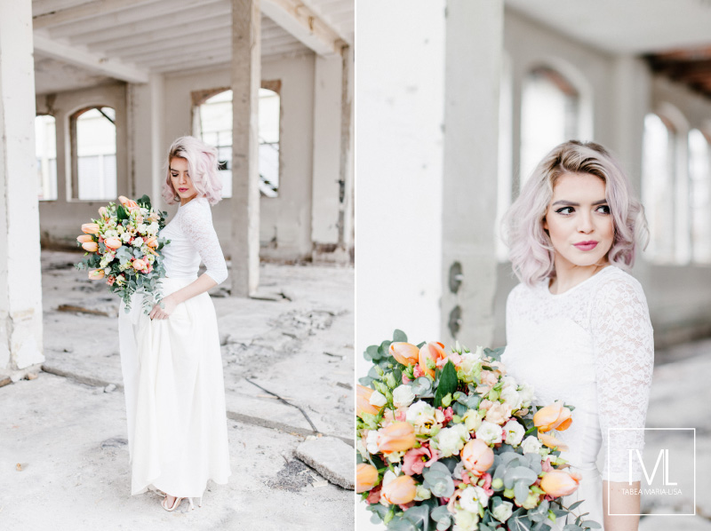 TML TABEA MARIA-LISA hochzeitsfloristik hochzeitsdekoration brautstrauss floral design wedding styling urban modern free people vintage wild peach weddingflowers-9