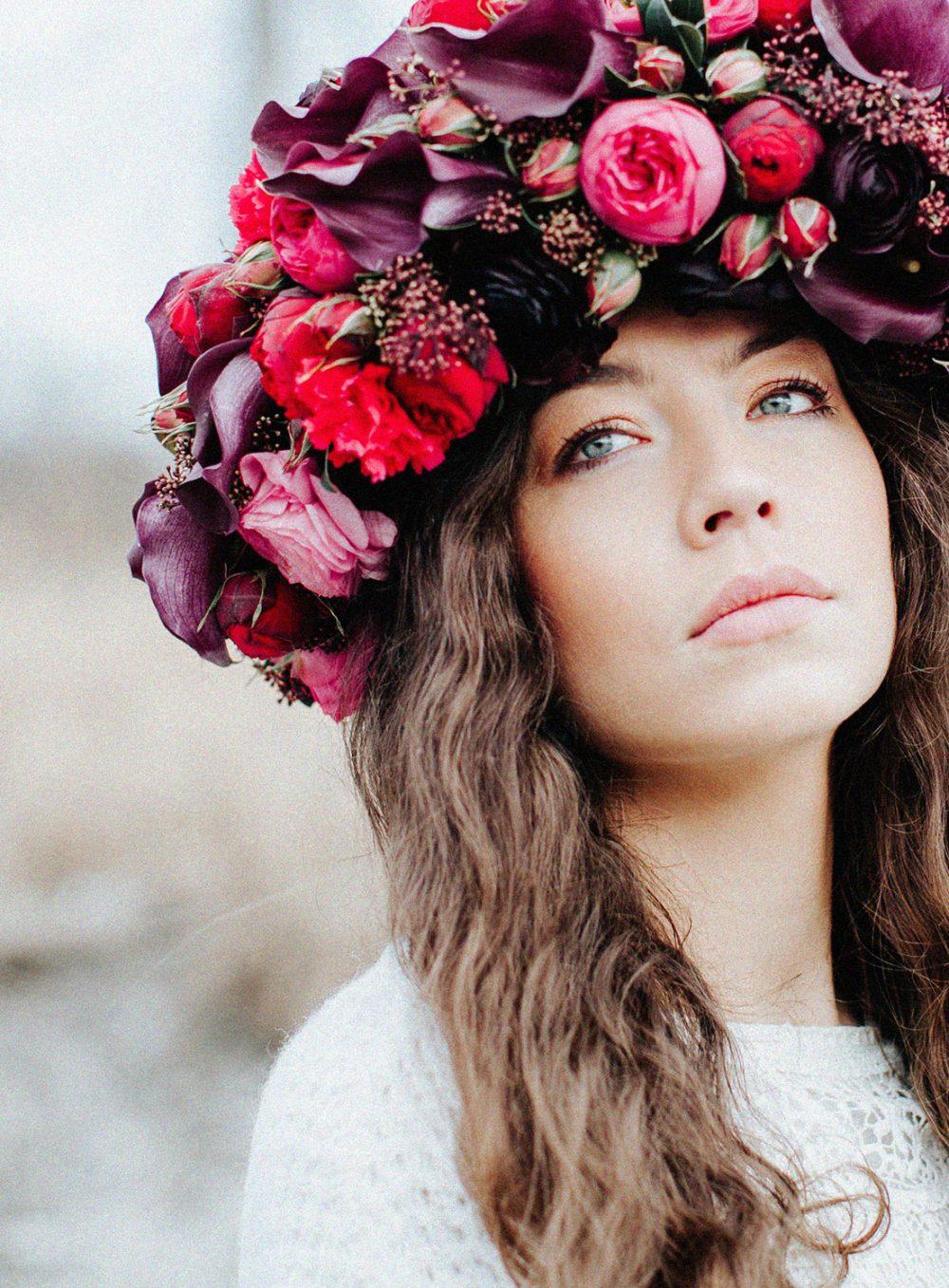 Tabea Maria-Lisa Flower Crown Haarkranz Hochzeit Boho Vintage Zürich Gstaad