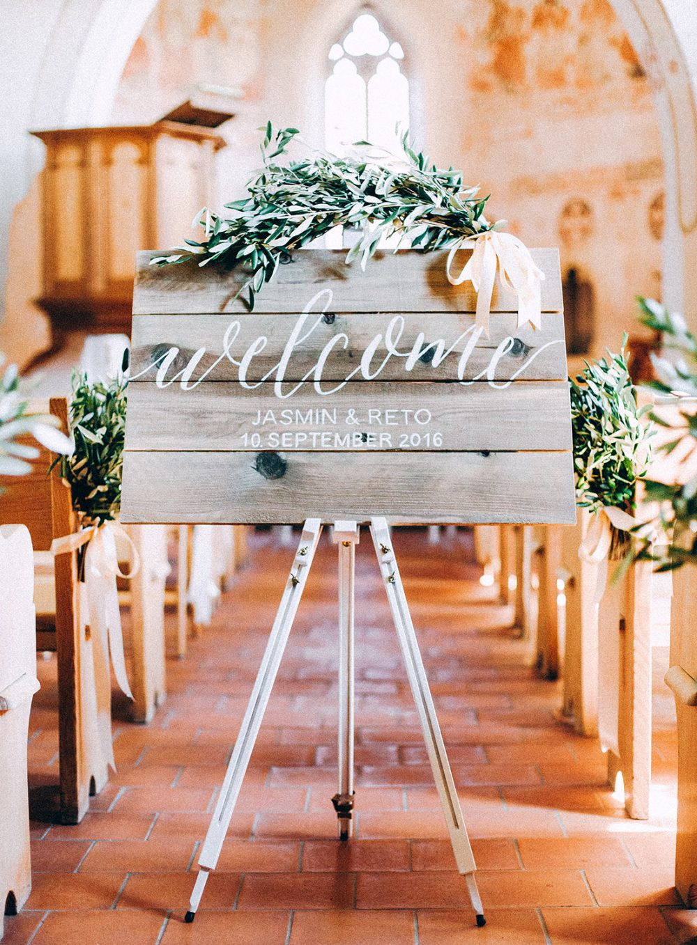 Olive Olivenzweige Hochzeit Bern Etsy Switzerland Hochzeitsdekoration Tabea Maria-Lisa Willkommensschild Vintage Boho